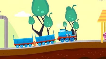 托马斯和他的朋友们托马斯小火车运输不同颜色货物