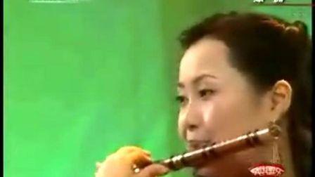 竹笛与钢琴吹奏出的《绿洲》陈悦
