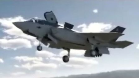 惊叹!F35B垂直起降过程,好似变形金刚般