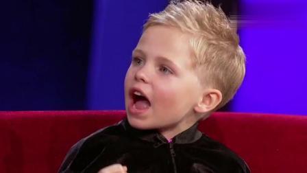6岁苏格兰小男孩把fish念成fesh, 还努力想把主持人带跑偏