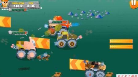 汽车总动员玩具 赛车总动员视频之怪物车大碰撞
