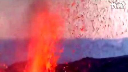 冰岛附近火山爆发高清