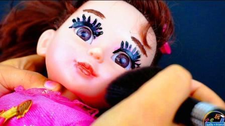 娃娃化妆居然画的这么丑