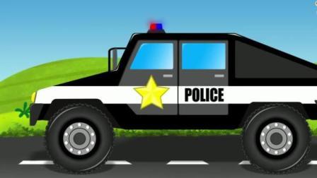 汽车总动员玩具 赛车总动员视频之警车紧急出动
