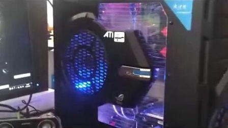 电脑加装LED变光遥控灯条效果