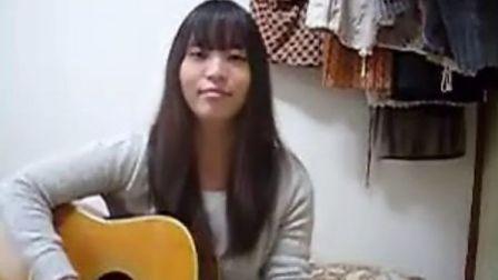 YUI cover It's happy line guitar 7716flowermoon