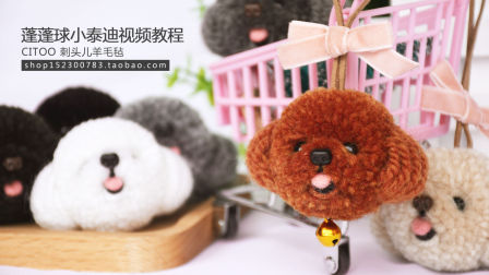 CITOO刺头儿羊毛毡蓬蓬球小号泰迪视频教程
