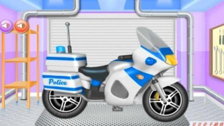赛车总动员玩具动画视频 汽车总动员之清洗摩托车动画视频