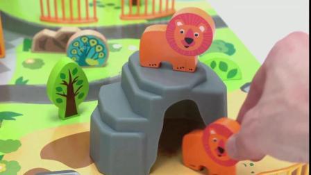 迷你动物园玩具, 可爱的小狮子, 斑马