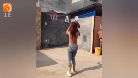 农村篮球女孩教你什么是性感活力