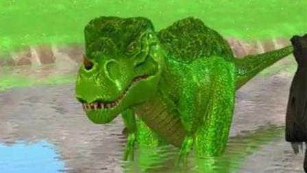 侏罗纪世界恐龙 恐龙世界 恐龙乐园之猎人逃出恐龙岛动画