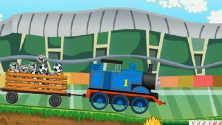 托马斯小火车和它的朋友们之托马斯小火车运足球