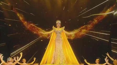 金鹰电视节唐嫣女皇般亮相, 太惊艳太震撼了