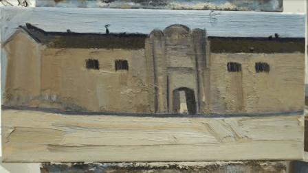 绘画一刻半: 油画风景课堂-延安的土砖房屋的细节刻画