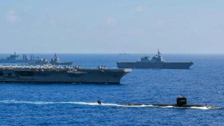13艘军舰浩浩荡荡 美日印再次联手出动 中国海军的机会来了