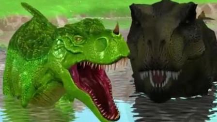 侏罗纪世界 恐龙世界 恐龙乐园之霸王龙大决战动画