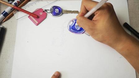 拙画一刻半: 立体彩铅课堂-超写实的钥匙扣和公交胶滴卡-上