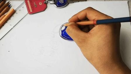 拙画一刻半: 立体彩铅课堂-超写实的钥匙扣和公交胶滴卡-2