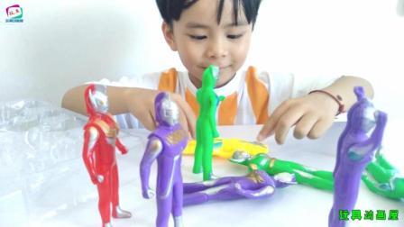 银河战队玩具拆箱 奥特曼系列儿童玩具视频