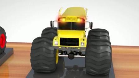 挖土机玩具视频 汽车总动员 迷你卡车玩具视频之怪物大脚车赛车总动员