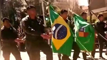 少见的巴西阅兵, 步伐虽然奇葩, 但气势却很过分
