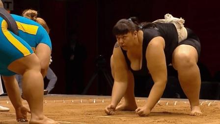 俄罗斯首席女相扑果然不是盖的! 再壮实的对手都撑不过10秒