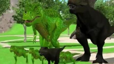 侏罗纪世界 恐龙世界 霸王龙 恐龙总动员 恐龙玩具视频之枪击恐龙动画游戏