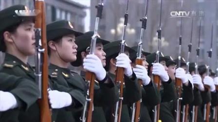 三军仪仗队的女兵! 这样的美, 不是言语可以形容的