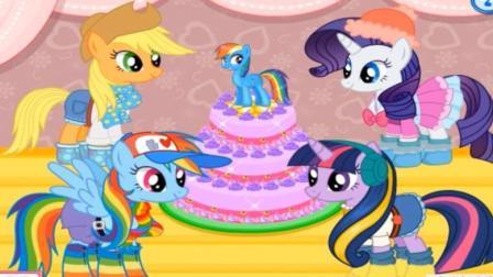 小马宝莉友谊的魔力第八季 彩虹小马之小马宝莉生日派对动画视频