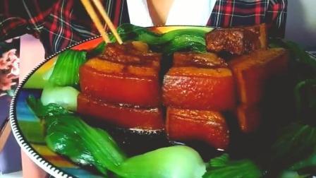 五香卤肉美食小吃, 这么大一盘肉, 姐确定一人能吃得完吗