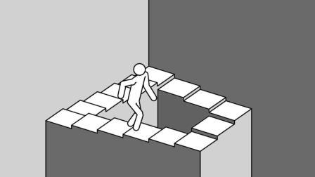 国外有个楼梯, 你永远都走不出去, 看了100遍还是不知道!