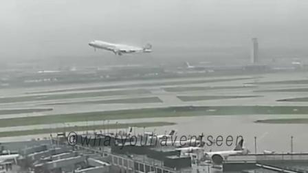 台湾华航客机降落紧急复飞, 监控拍下这样一幕