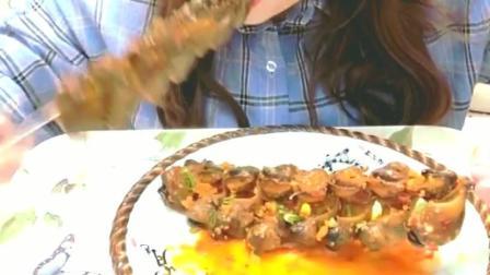 香辣海螺串美食小吃, 美味清香肉质, 这些海鲜的价格贵吗