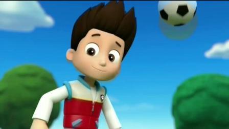 《汪汪队立大功》莱德在踢足球呢, 小力通话吗