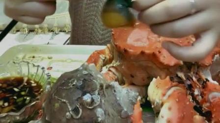 盐焗大海螺美食小吃, 你见过这种螺壳开花的海螺吗