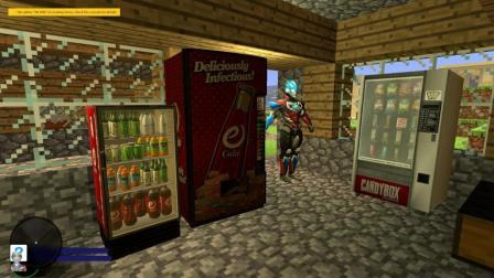 我的世界 布欧奥特曼给来我家了, 送冰箱给我