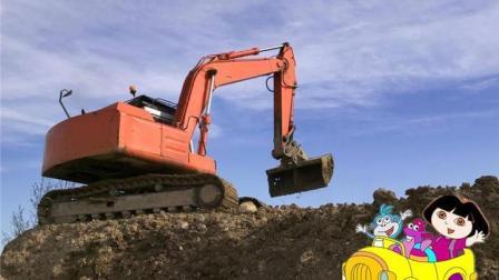 儿童电动挖掘机 男孩玩具车挖土机