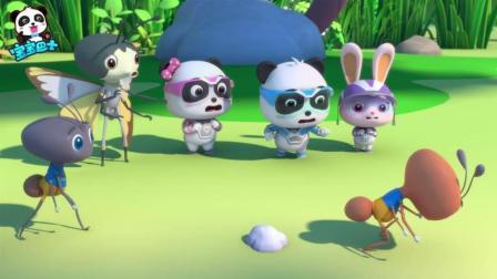 《宝宝巴士》哈哈, 领头蚁做蠢事, 队员也跟着做, 蚂蚁兄弟你们太好笑了!