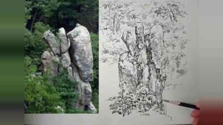 松树与石堆相伴, 坚贞不渝