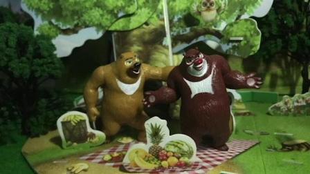 光头强要把毛毛卖到马戏团 熊大熊二解救毛毛