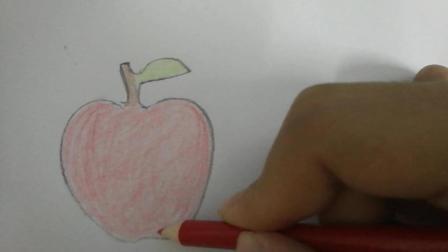 """《小猪佩奇学画画》小猪佩奇今天学会了画""""苹果""""啦! 小朋友你们赶快来学习一下吧! !"""