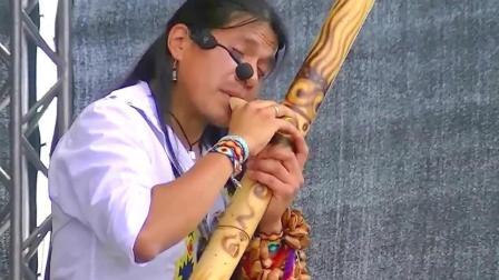 排箫王子Leo Rojas现身德国小镇现场表演古老的印第安音乐