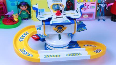 超级飞侠控制塔玩具 乐迪和酷飞在轨道飞机发射