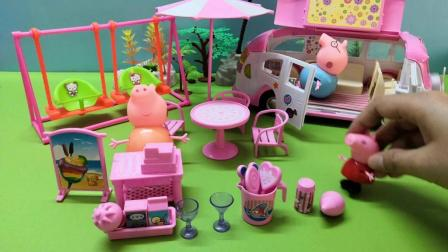 《小猪佩奇》今天佩奇跟爸爸和妈妈一起卖甜点, 小朋友看看都喜欢什么吧!
