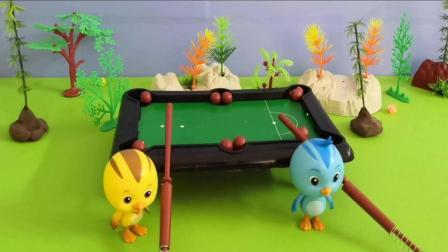 《萌鸡小队》今天麦奇跟欢欢打桌球, 小朋友猜猜看是谁赢了!