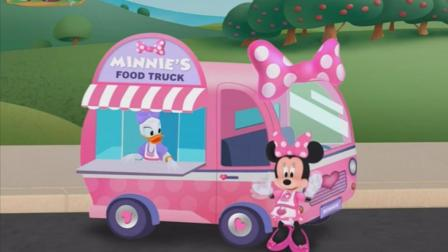 Monnie's food truck 米妮的流动餐车 迪士尼米奇妙妙屋 快餐车 原创英语FunToyz