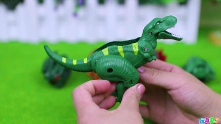 侏罗纪恐龙变形崎岖蛋玩具