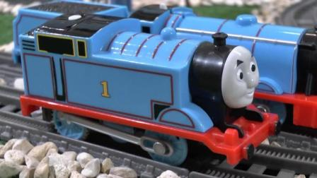 thomas and friends trains toy 04 托马斯小火车 玩具分享英语 good luck engine