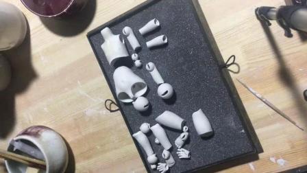 【原创】陶瓷关节人偶的制作过程(修坯篇)