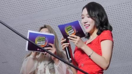 韩国声音甜美红衣性感黑丝美腿女主持人现场直拍